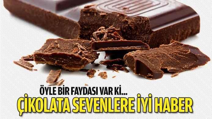Çikolata aşıklarına iyi haber