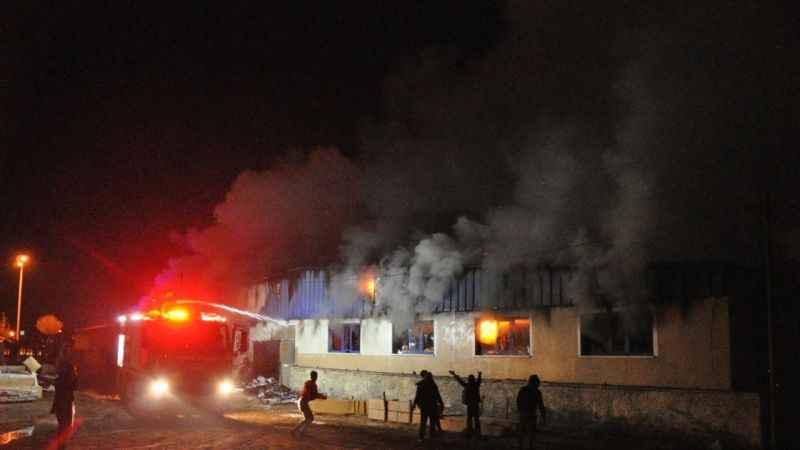 Kırşehir'de tekstil fabrikası deposunda yangın