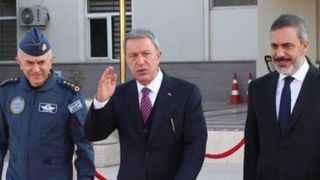 Hulusi Akar ve Hakan Fidan, Rusya Savunma Bakanı ile bir araya geldi!