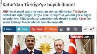"""Takvim gazetesi """"Katar'dan Türkiye'ye büyük ihanet"""" haberini sildi"""