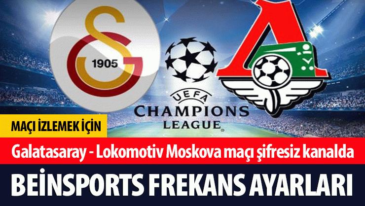 Galatasaray, Şampiyonlar Ligi'nde bu akşam Lokomotiv Moskova'yı ağırlayacak. Gs - Lokomotiv Moskova maçının kanalı BEIN Sports oldu. Bu akşam saat 22:00'de başl...